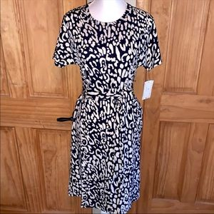 NWT S LLR Leopard Printed Marly Dress